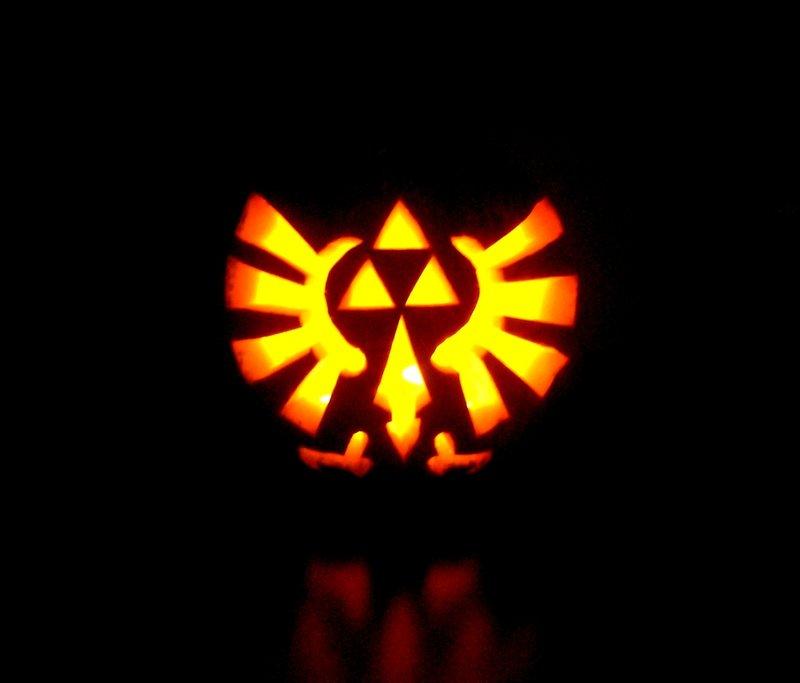 Zelda themed pumpkin stencils