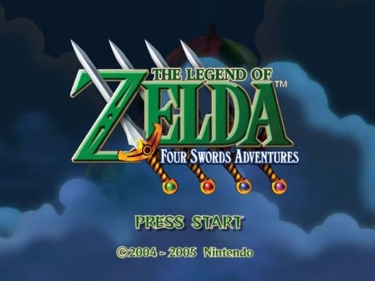 four swords adventures title screen
