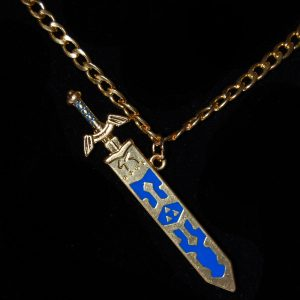 Gold Zelda Sword Necklace