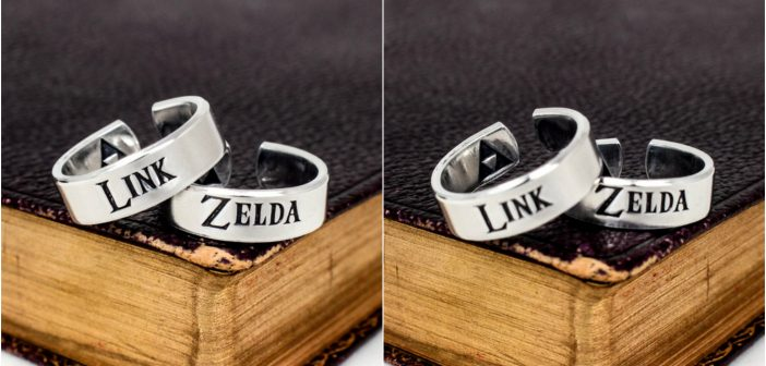 Check out This Adorable Link and Zelda Ring Set