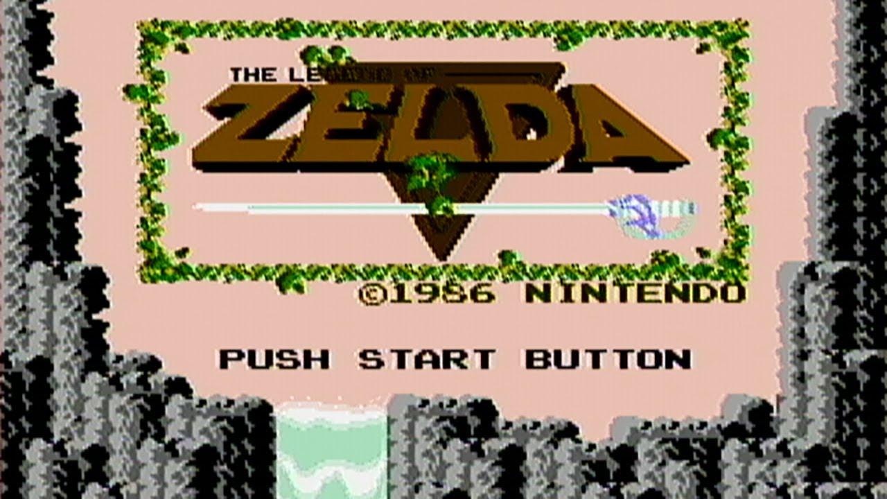 the legend of zelda title screen