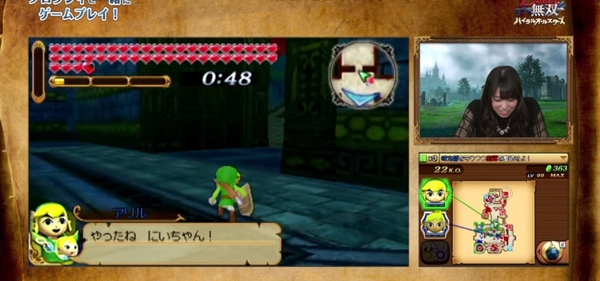 Aryll Talks For Toon Link In Hyrule Warriors Legends