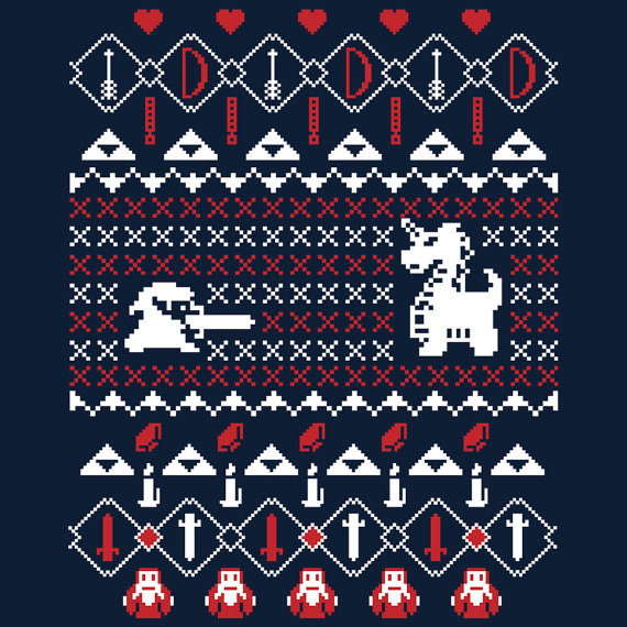 Ugly Christmas Sweater Design.Check Out This Nostalgic Ugly Christmas Sweater Zelda Shirt